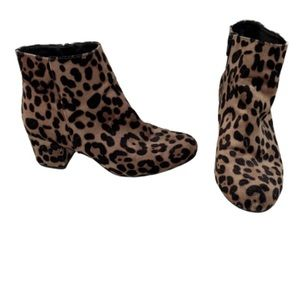A New Day cheetah print ankle boots